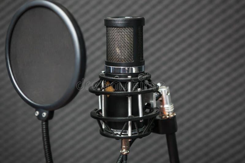 Berufskondensatorstudiomikrofon lizenzfreies stockbild