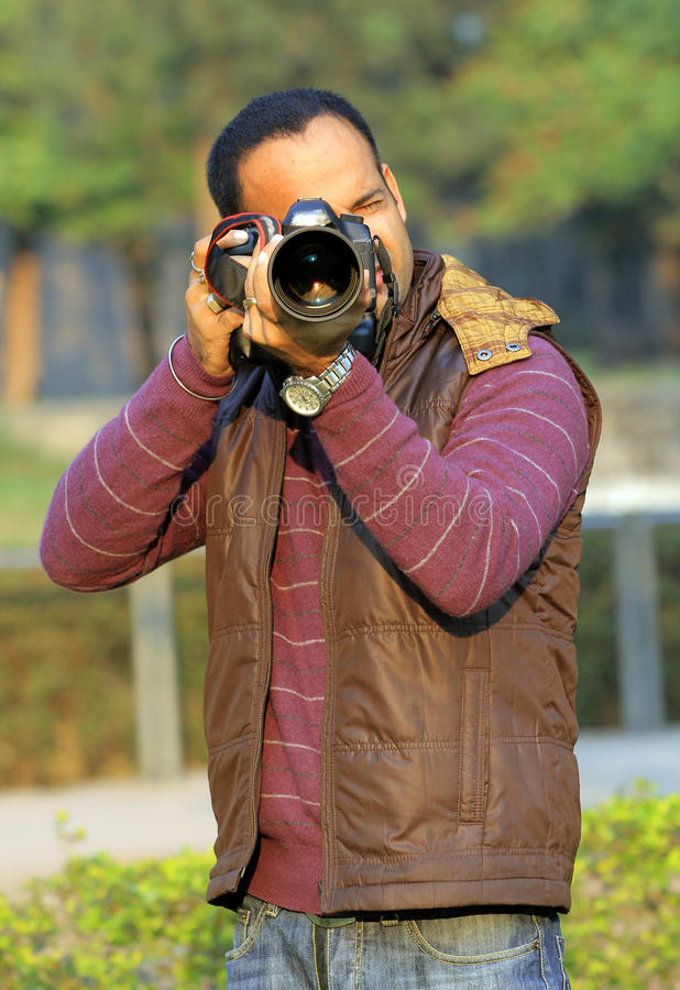 Berufsphotograph stockfotografie