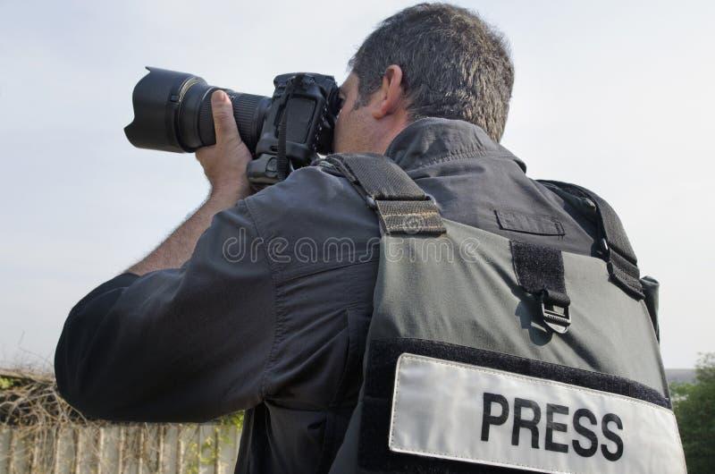 Berufsphotoreporter lizenzfreie stockfotos