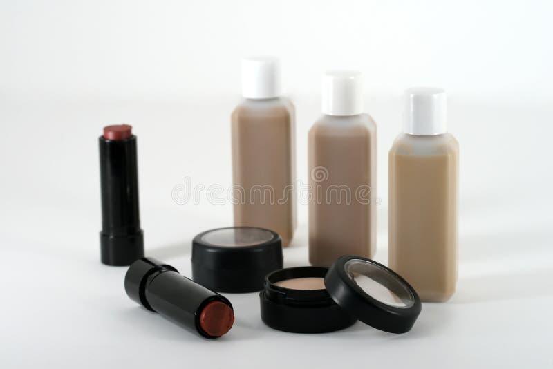 Berufsqualität bilden und kosmetische Produkte stockbild