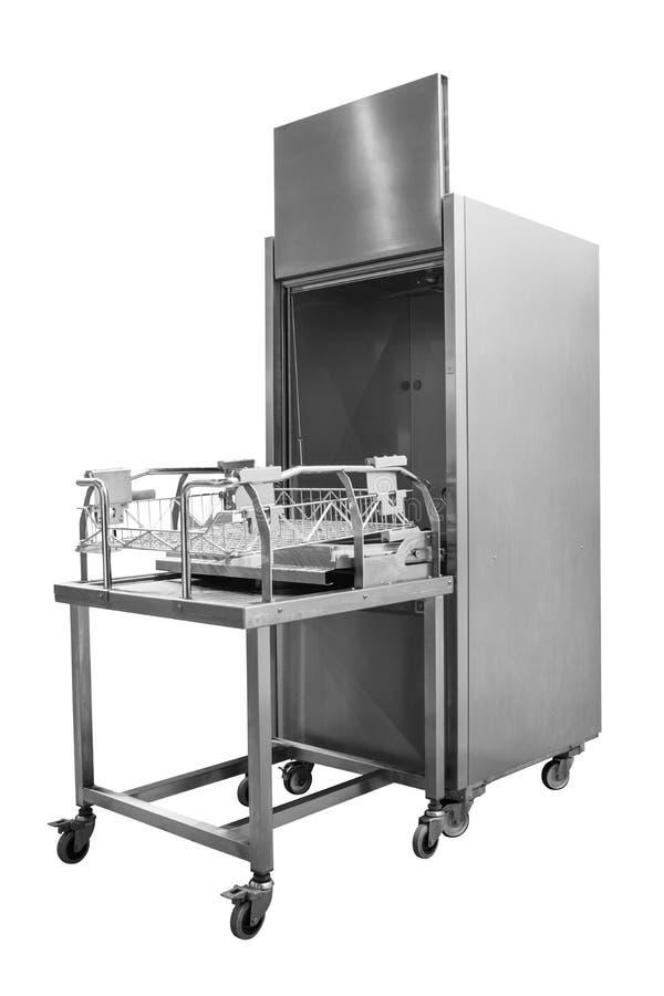 Berufsspülmaschine lokalisiert auf weißem Hintergrund lizenzfreie stockfotografie