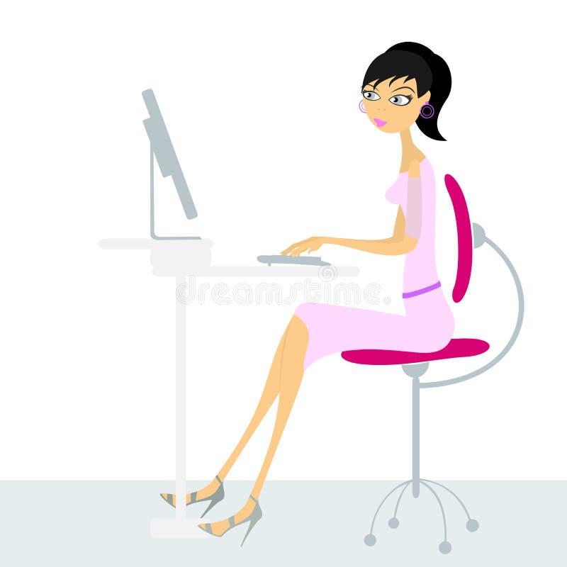 Berufstätige Frau lizenzfreie abbildung