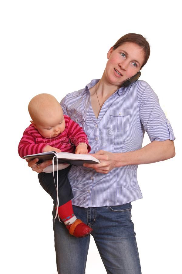 Berufstätige Mutter stockfoto