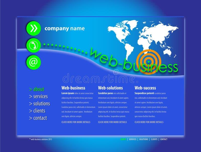 Berufswebsite-Schablone lizenzfreie abbildung