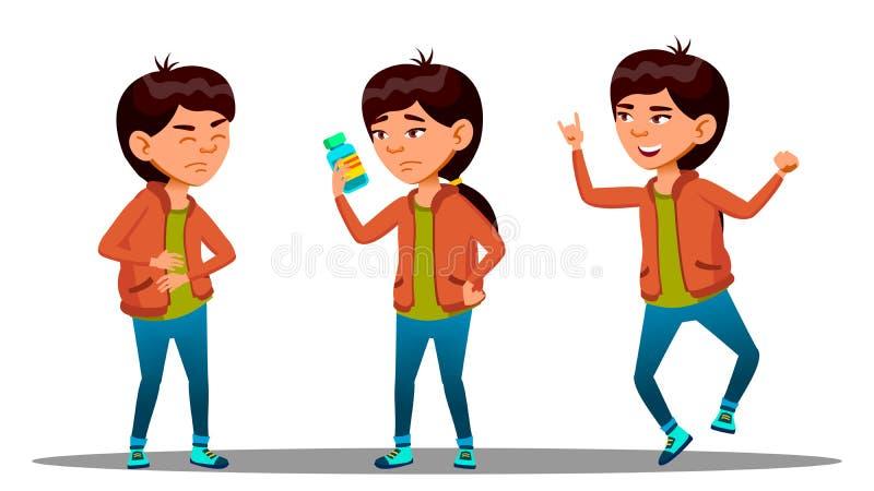 Berusade flickamenmage och henne medicinen och återställt Före och efter vektor isolerad knapphandillustration skjuta s-startkvin vektor illustrationer