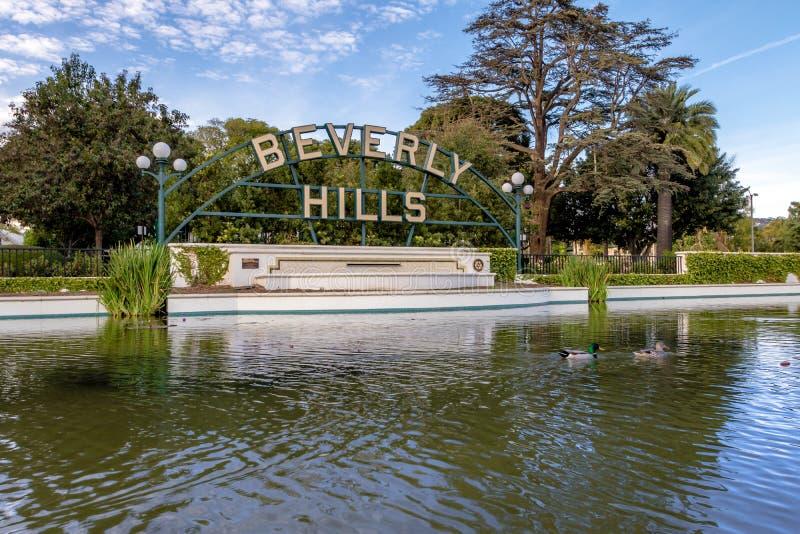 Berverly-Hügel-Zeichen - Los Angeles, Kalifornien, USA lizenzfreie stockbilder