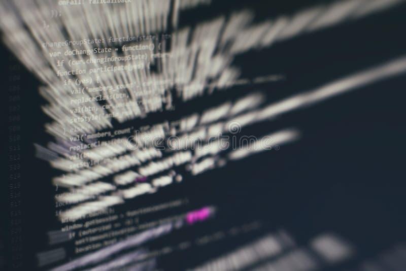?berwachen Sie Nahaufnahme des Funktionsquellcodes Abstrakter IT-Technologiehintergrund Software-Quellcode stockbild