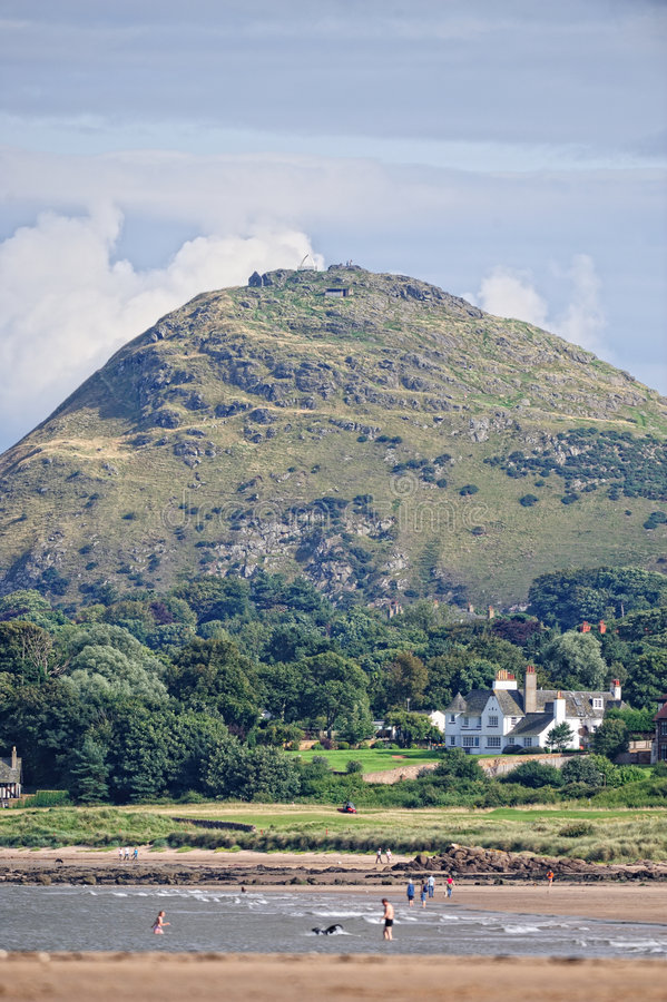 berwick东部法律洛西恩北部苏格兰 图库摄影