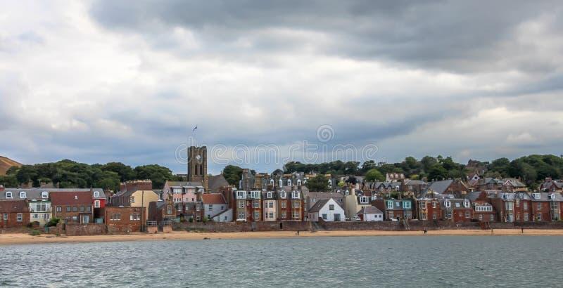 Berwick norte, uma cidade do beira-mar e burgh real anterior em Lothian do leste, na costa sul do delta de adiante, Escócia fotografia de stock royalty free