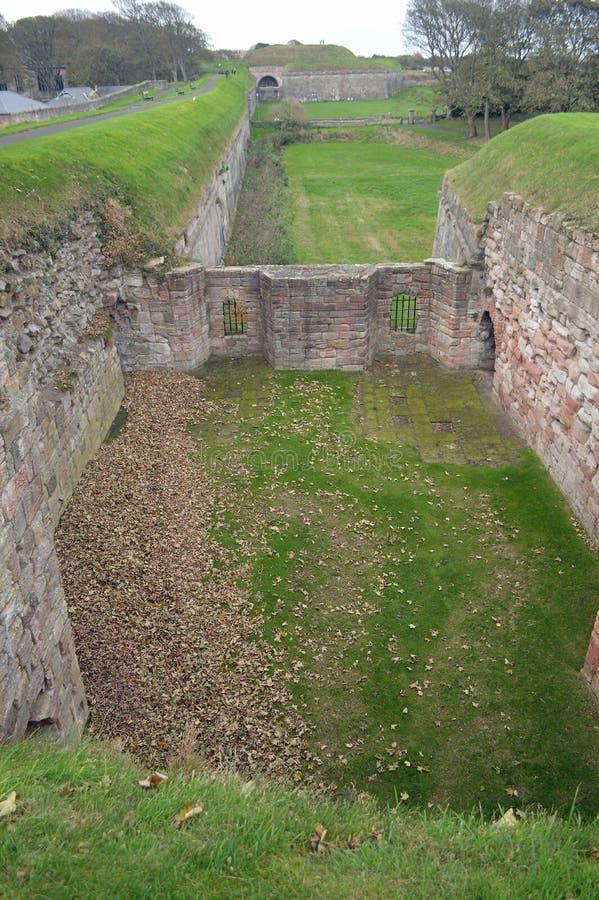 Berwick Town Walls, berwick-op-Tweed Northumberland stock afbeeldingen