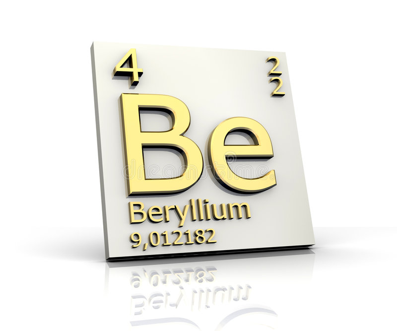 Beryllium from periodic table of elements stock illustration download beryllium from periodic table of elements stock illustration illustration of laboratory substance urtaz