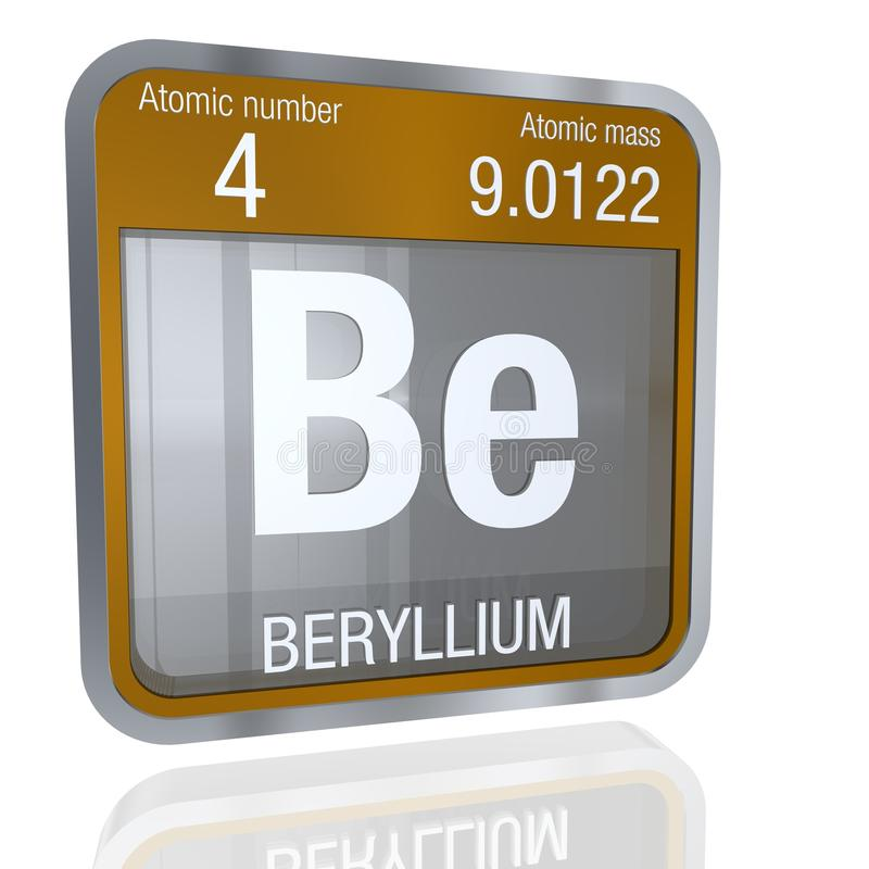 Beryllium symbol in square shape with metallic border and download beryllium symbol in square shape with metallic border and transparent background with reflection on the urtaz Image collections
