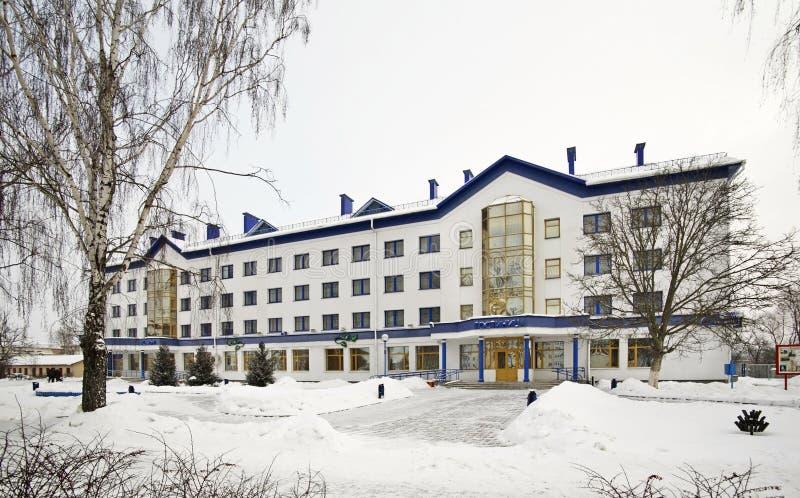 Beryozkahotel in Vawkavysk wit-rusland stock fotografie