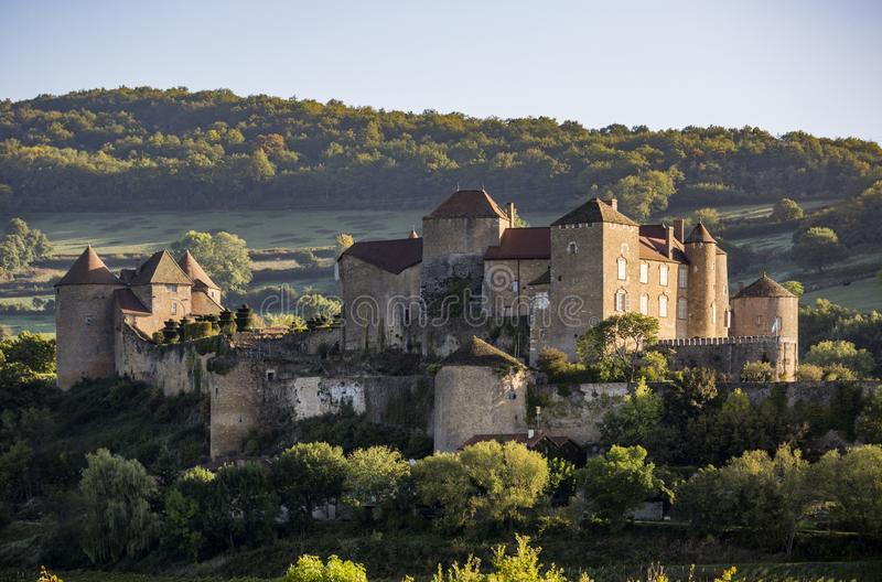 Berze castle, the biggest and oldest fortress in South Burgundy. France royalty free stock photo