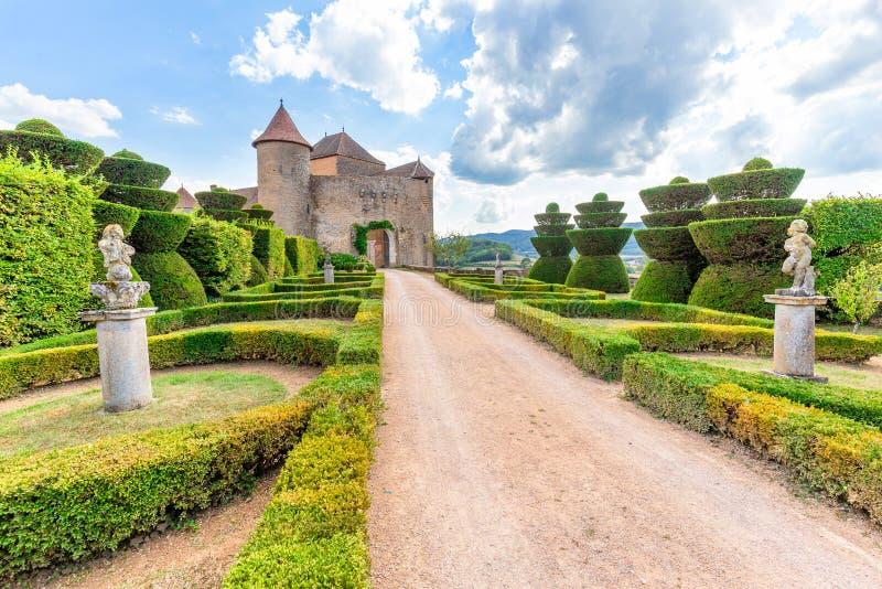 Berze-le-Chatel, Bourgogne, France photographie stock libre de droits