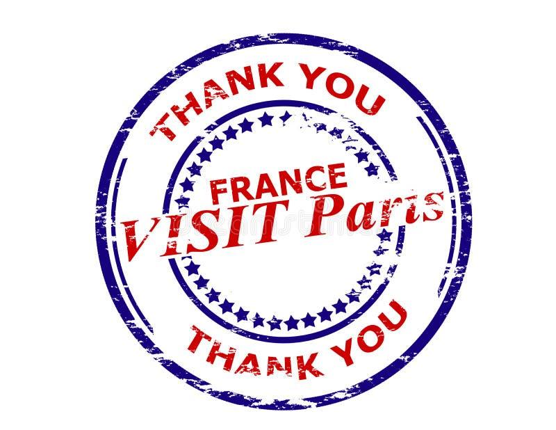 Besök Paris Frankrike vektor illustrationer