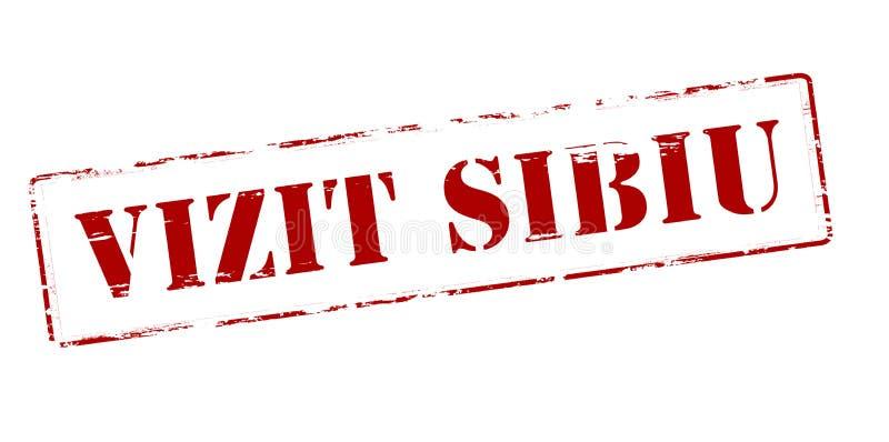 Besök Sibiu stock illustrationer