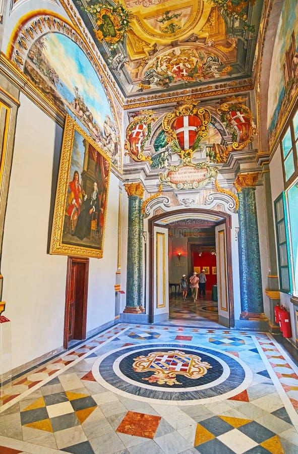 Besöka slotten för Grandmaster` s i Valletta, Malta arkivbild