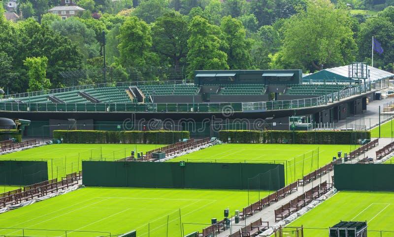 Besöka Wimbledon domstolar arkivbilder