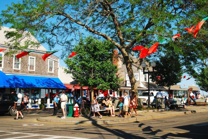 Besökare till Provincetown arkivfoto
