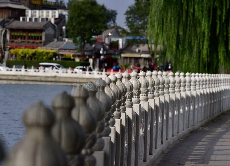BesökPeking Shichahai i hösten arkivbild