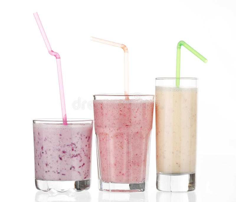 Bes smoothies royalty-vrije stock foto