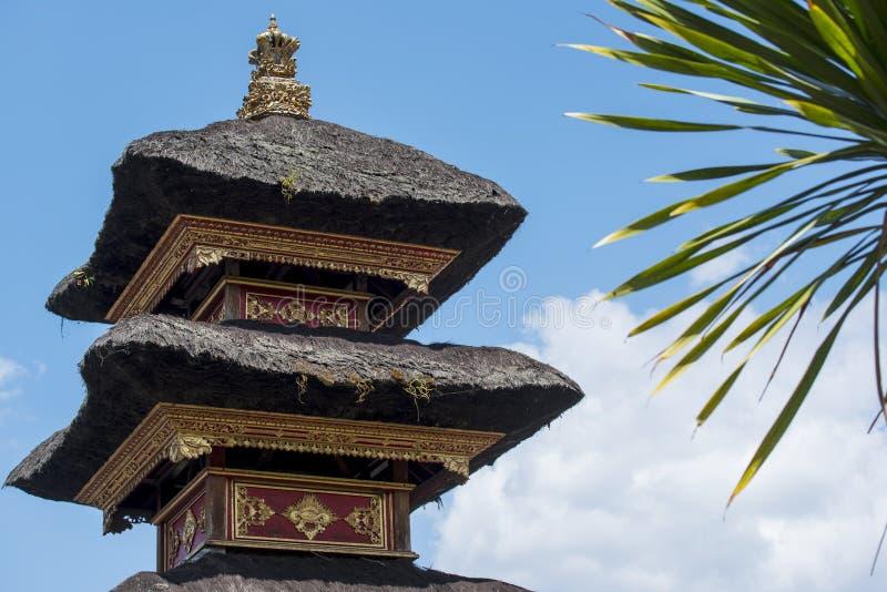 Besakih复杂Pura Penataran阿贡,巴厘岛,印度尼西亚印度寺庙  库存照片