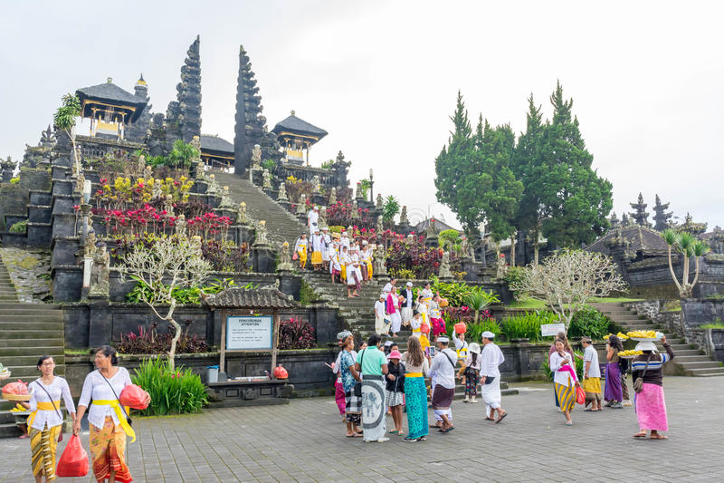 Besakih świątynia w Bali, Indonezja fotografia royalty free