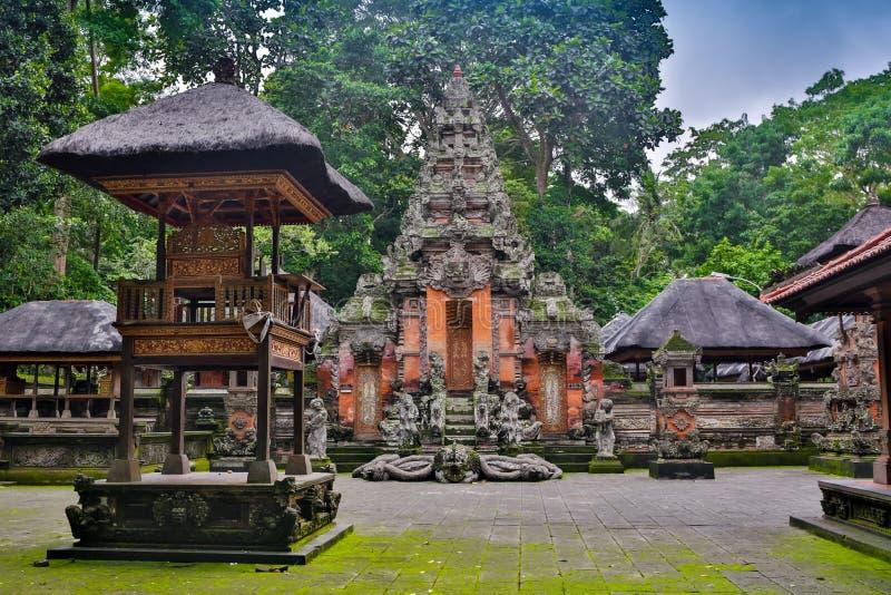 Besakih σύνθετο Pura Penataran Agung, ινδός ναός του Μπαλί, Ινδονησία στοκ εικόνα