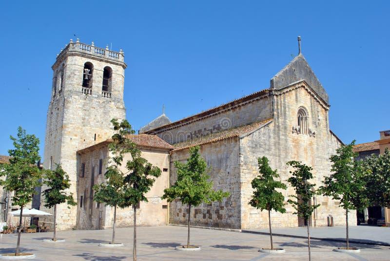 Besalu kościół zdjęcie royalty free