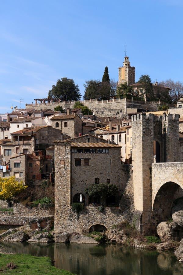 Besalu Spanien royaltyfri foto