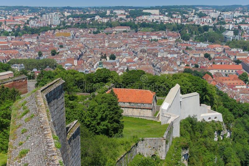 Besançon von La Zitadelle stockbild