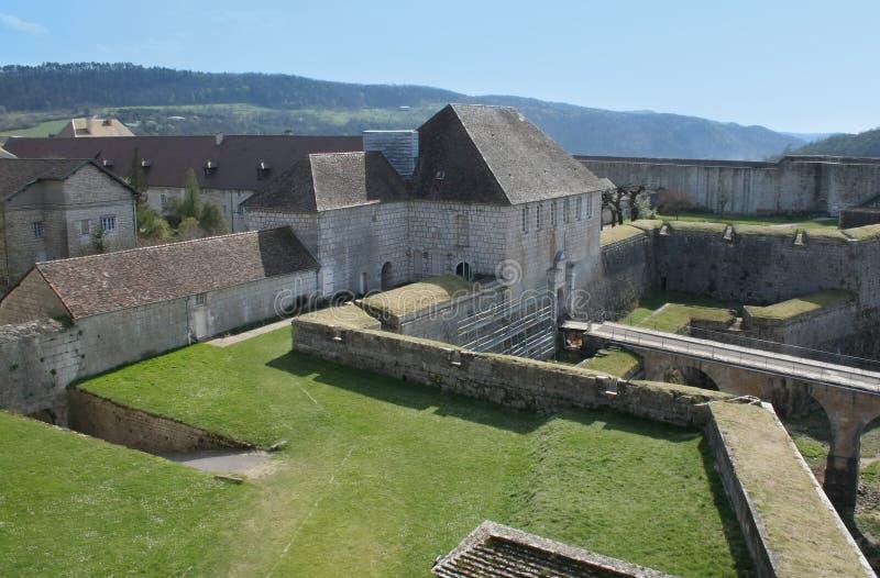 besancon fästning royaltyfri foto