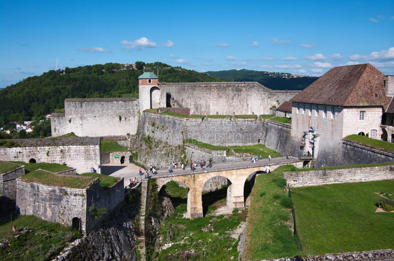 Besancon Fortress. Citadel of Besancon (Besançon) town, France, Comte royalty free stock image