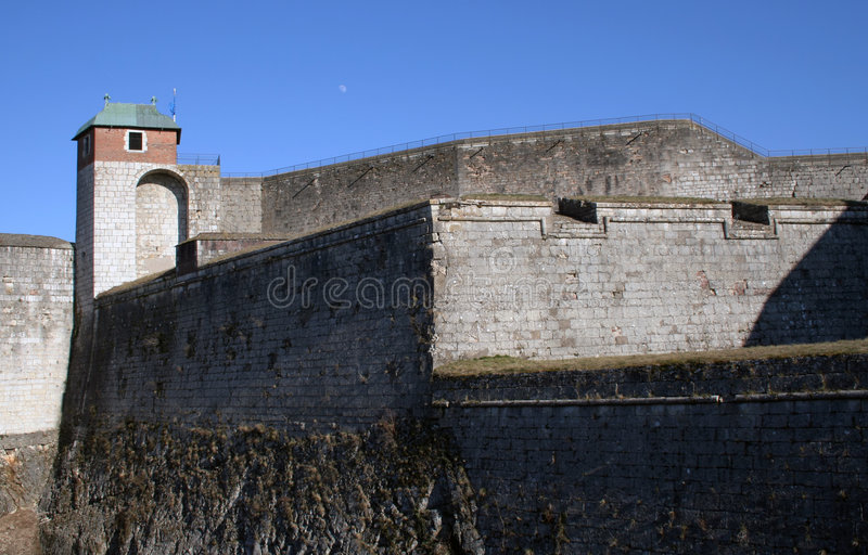 Besancon Fortress. Fortress in Besançon, France. It was built by the architect Vauban royalty free stock photo