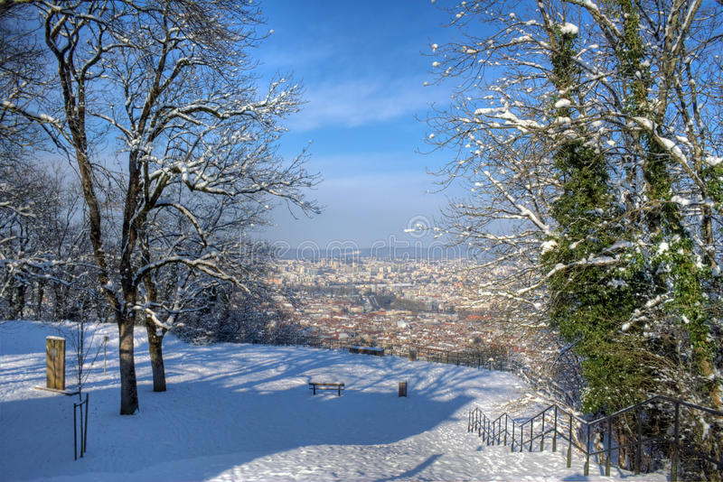 Download Besancon in winter stock image. Image of europe, mountain - 18079143
