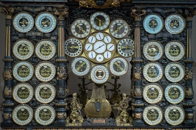 BESANCONS, FRANCE/EUROPE - 9月13日:在C的天文学时钟 免版税库存图片