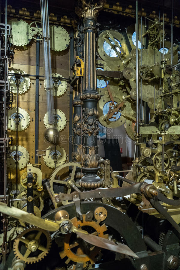 BESANCONS, FRANCE/EUROPE - 9月13日:在C的天文学时钟 库存图片