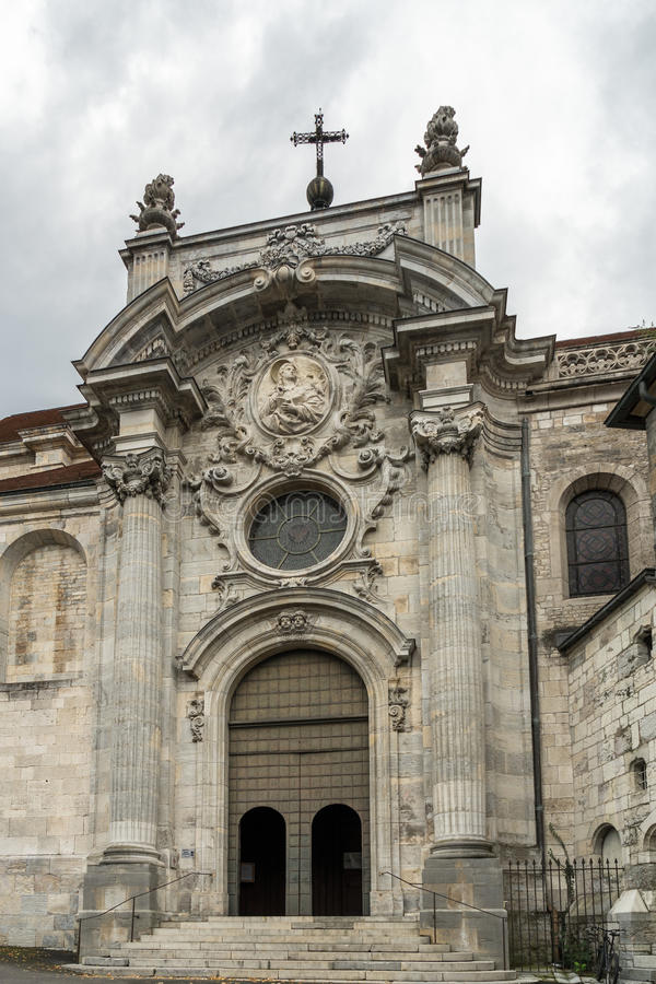 BESANCONS, FRANCE/EUROPE - SEPTEMBER 13: Cathedral of St Jean in stock image
