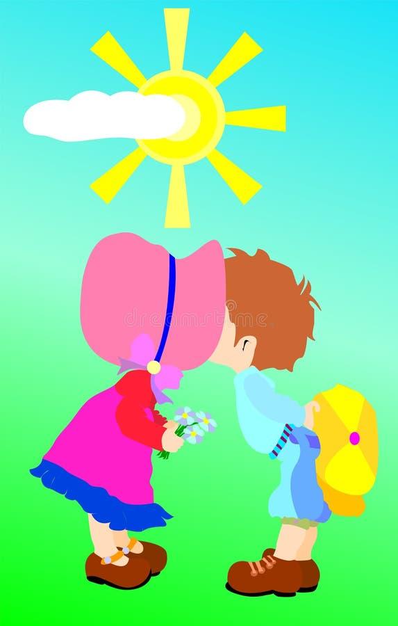 Besar a niños libre illustration