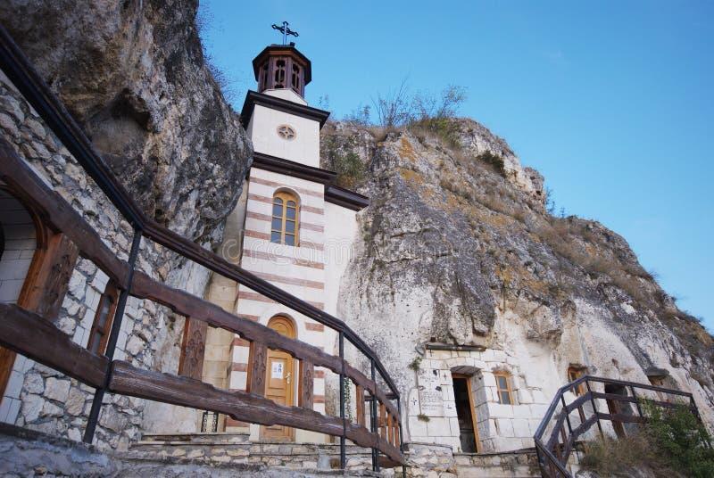 Besarbovo Felsen-Kloster, Bulgarien lizenzfreie stockfotografie