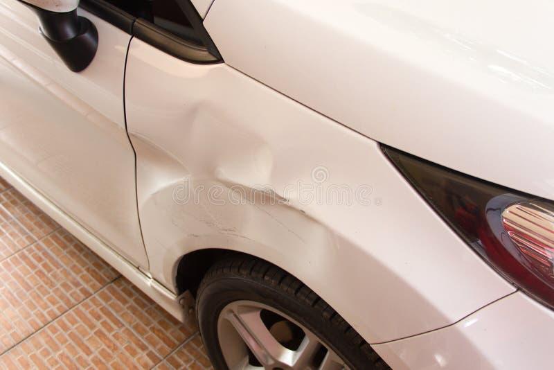 Beschädigtes Fahrzeug stockfoto