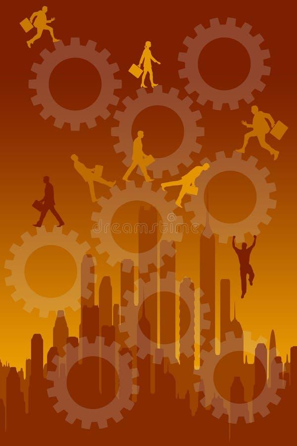 Download Beschäftigte Karriere stock abbildung. Illustration von burnout - 47100752
