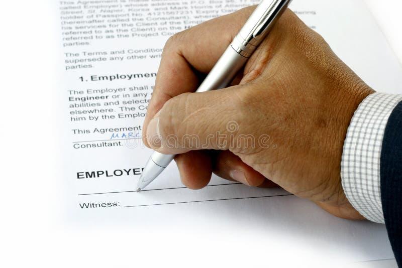 Beschäftigung-Kontakt stockbilder