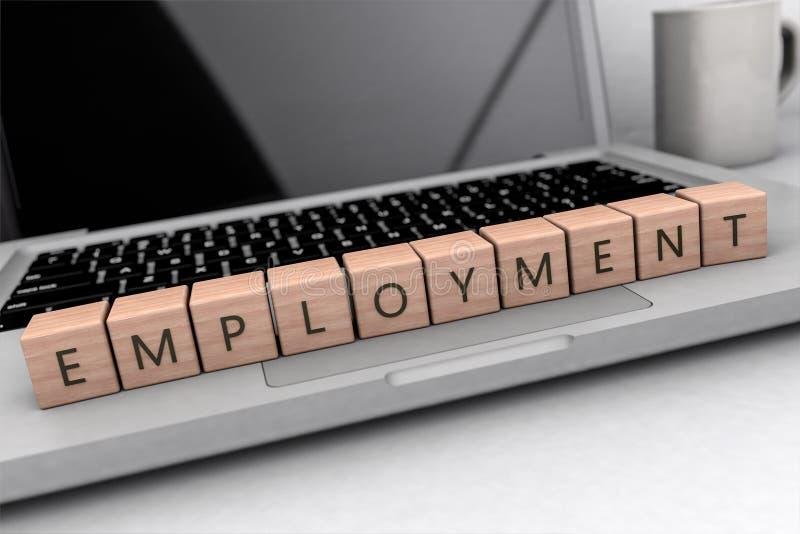 Beschäftigungstextkonzept lizenzfreie abbildung