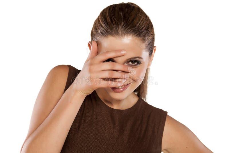 Beschämte Frau lizenzfreie stockfotografie