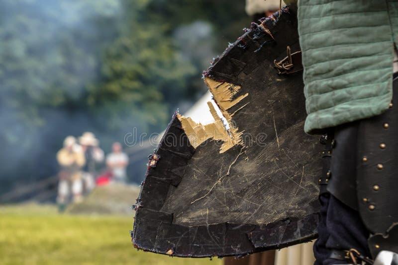 Beschadigd schild royalty-vrije stock afbeeldingen