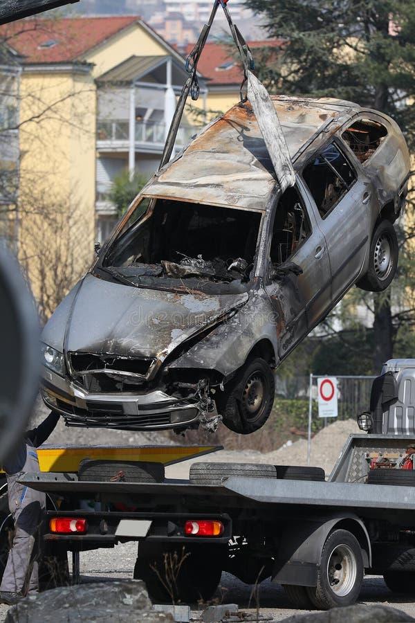 Beschadigde auto royalty-vrije stock fotografie