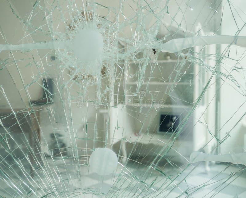 Beschadigde deur royalty-vrije stock afbeelding