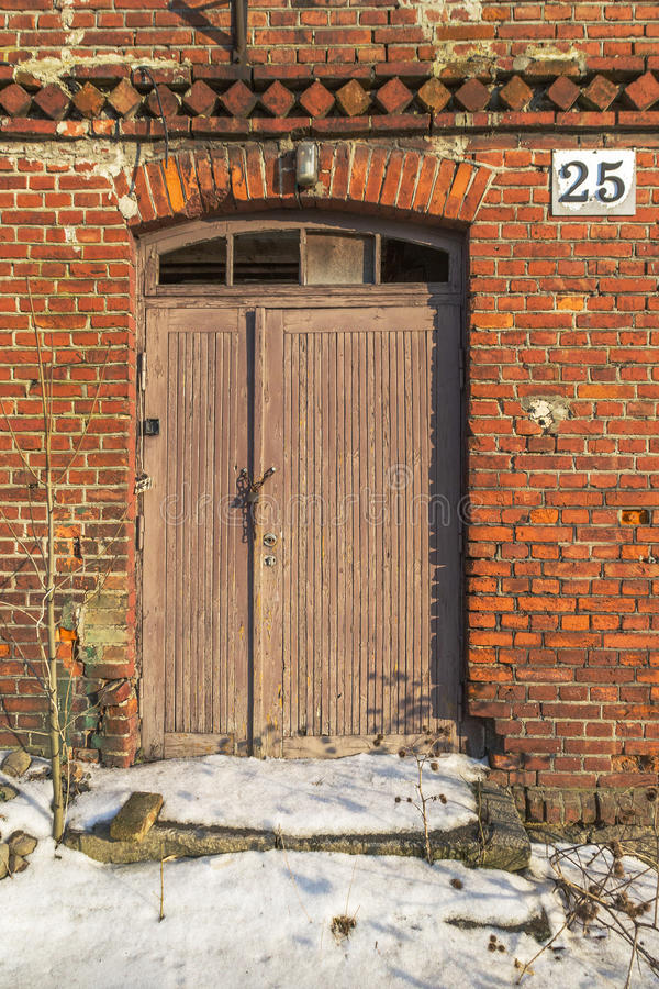 Beschadigde deur stock fotografie